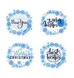 best wishes merry warm christmas winter holidays vector image