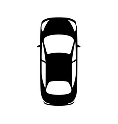 big black car top view icon sport car sedan vector image