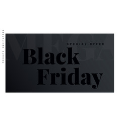 black friday banner poster logo black color on vector image