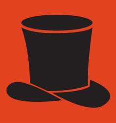 black hat vector image