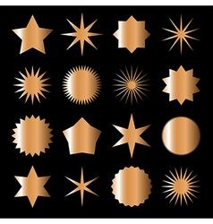 Bronze stars vector