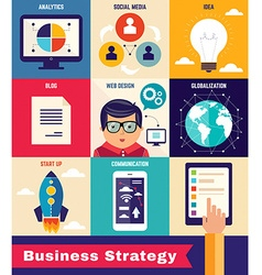 Business strategy infographic vector