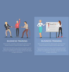 business training conceptual posters competitions vector image