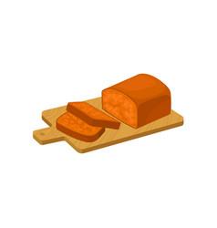classic pumpkin fruitcake traditional vector image
