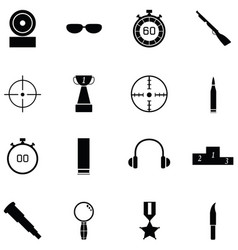 Clay shooting icon set vector