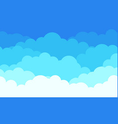 cloud pattern background flat white clouds in vector image