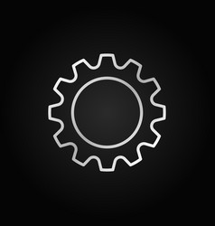 cog or gear icon cogwheel linear sign vector image