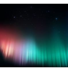 Colorful aurora vector image