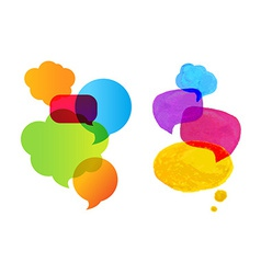 Colorful Speech Bubble Set vector image