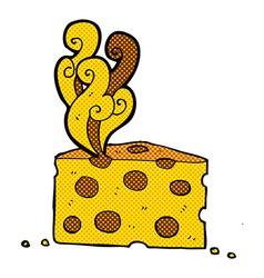 comic cartoon smelly cheese vector image