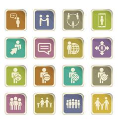 Community icon set vector