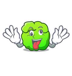 Crazy shrub mascot cartoon style vector