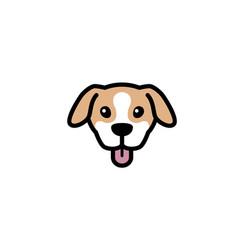 Creative pet head symbol logo vector