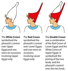 Crown worn by pharaohs vector