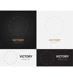 design templates in black grey and golden colors vector image