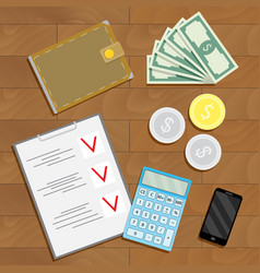 Financial accounting and verification vector