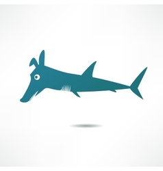 Fish-dog vector