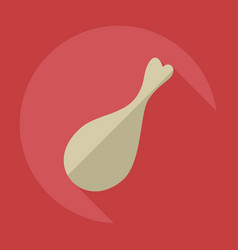 Flat modern design with shadow icons meat vector