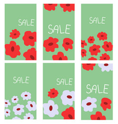 floral decoration banners vector image
