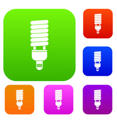 Fluorescent bulb set collection vector