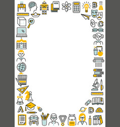 frame rectangle vertical school education color vector image