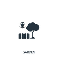 Garden icon simple gardening element symbol vector