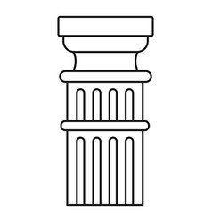 greek column icon outline style vector image