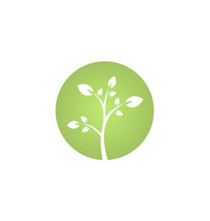 green tree environment plant logo vector image