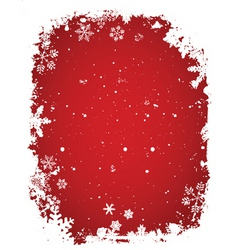 grunge snow vector image