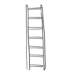 Hand drawn sketch wooden ladder vector