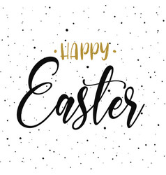 Happy easter hand drawn calligraphy design vector