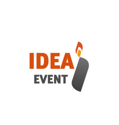 i letter icon for idea event agency vector image