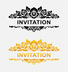 Invitation floral ornament decoration vector image