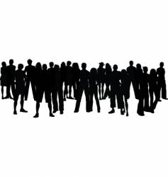 large crowd vector image vector image