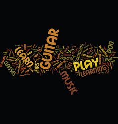 Learn how to play the guitar text background word vector