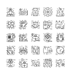 Line Icons With Detail 6 vector image