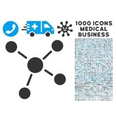 Links Icon with 1000 Medical Business Symbols vector image