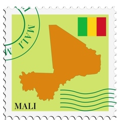 Mail to-from Mali vector