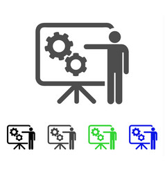 mechanical gears project board flat icon vector image