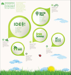 modern ecology infographic design layout vector image