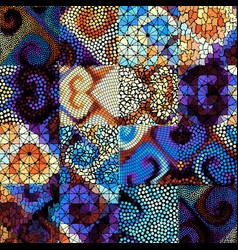 Mosaic art pattern mosaic image vector