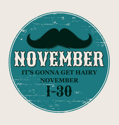 moustaches poster round or circle sticker vector image