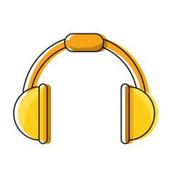 music headphones device icon vector image