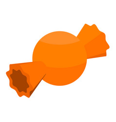 Orange bonbon icon isometric style vector