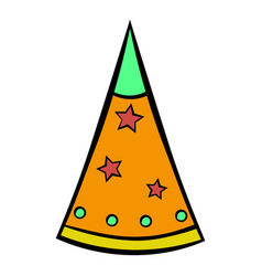 party hat icon cartoon vector image