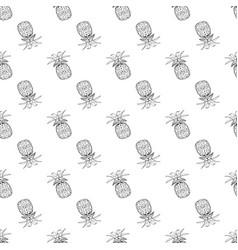 Pineapple pattern seamless print simple vector