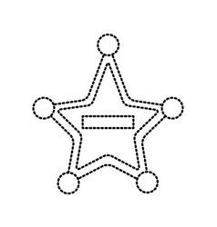 police badge star shape vector image