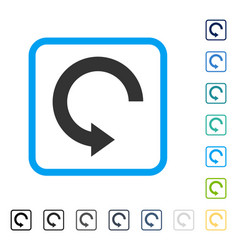 Rotate right framed icon vector