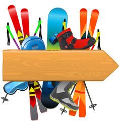 Ski rental board vector