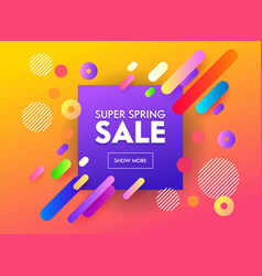 Super sale banner abstract geometric design vector